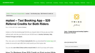 mytaxi - Taxi Booking App - $20 Referral Credits for Both Riders