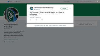 Tulane Information Technology on Twitter: