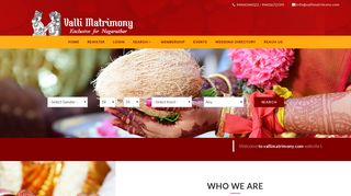 Valli Matrimony | Nagarathar Matrimonial Services | Match Making | India