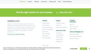 Email Log-in - Log in | Register.com, Inc.