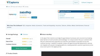 nanoRep Reviews and Pricing - 2019 - Capterra