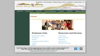Employees - Napa Valley College