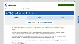 401(k) Retirement Plans | Retirement Savings Plans from Nationwide ...