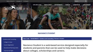 Naviance Student - Clear Creek