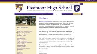 Naviance : College Center at Piedmont High School