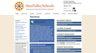 Naviance Portal - Simi Valley Unified School District: Naviance