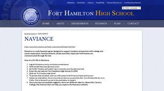 naviance - Fort Hamilton High School