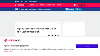 Sign up now and claim your FREE 7-day NBA League Pass trial ...