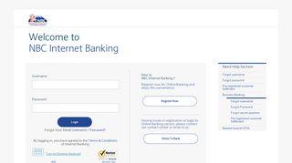 NBC Internet Banking: Login