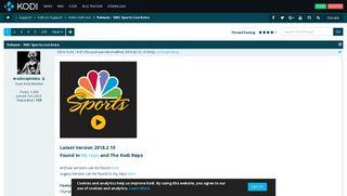 NBC Sports Live Extra - Kodi Forums