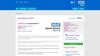 Bank Staff Nurse - Band 5 - NHS Jobs