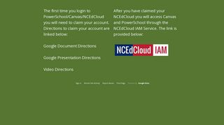 NCEdCloud Login - UCPS Secondary Startup Page - Google Sites