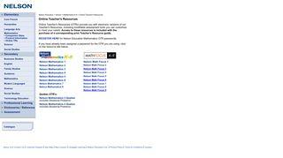 Nelson Education - Elementary Mathematics