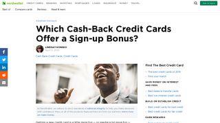 Which Cash-Back Credit Cards Offer a Sign-up Bonus? - NerdWallet