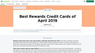 Best Rewards Credit Cards of February 2019 - NerdWallet