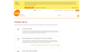 Employer sign-up - Nest