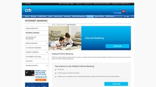Net Banking - Online Internet Banking in India - Citibank India