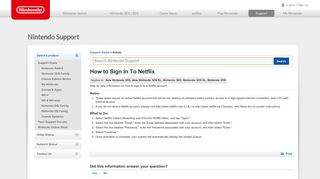 How to Sign In To Netflix   Nintendo Support