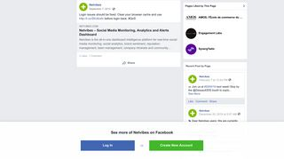Netvibes - Login issues should be fixed. Clear your... | Facebook