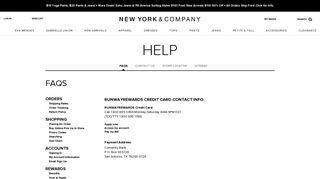 Credit Card Information - New York & Company
