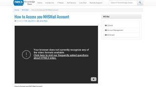 How to Access you NHSMail Account - NECS Knowledge Base