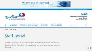 Staff portal - Northern Lincolnshire and Goole NHS Foundation Trust ...