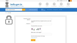 Sign In | National Portal of India