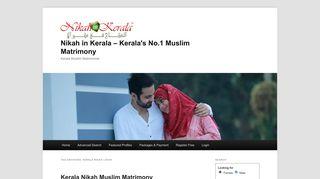 Kerala Nikah Login   Nikah in Kerala – Kerala's No.1 Muslim Matrimony