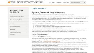 Login Banners - Information Security