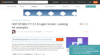 [SOLVED] NIST SP 800-171 3.1.9 Logon Screen - Looking for examples ...