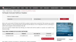NJ Fundz Network Toll Free Number India | Customer Care Number ...
