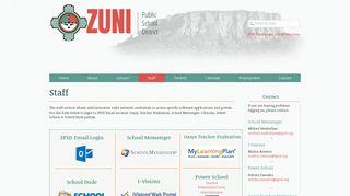 ZPSD   Staff - Zuni Public School District