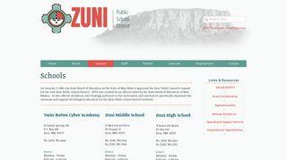 ZPSD   Schools - Zuni Public School District