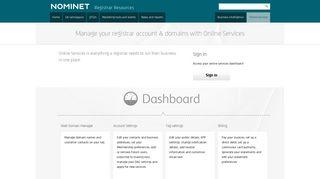 Online Services - Nominet Registrar Resources