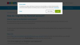 How to log into your Nominet account | 123 Reg Support