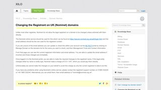 Changing the Registrant on UK (Nominet) domains | Domain Names