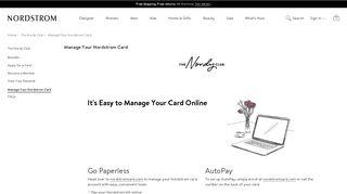Manage Your Nordstrom Card | Nordstrom