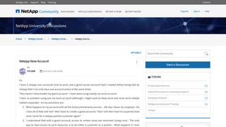 Solved: netapp now account - NetApp Community