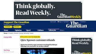 Q&A: Npower customer refunds | Money | The Guardian