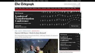 Npower bill fiasco: 'shock £1,800 demand' - Telegraph