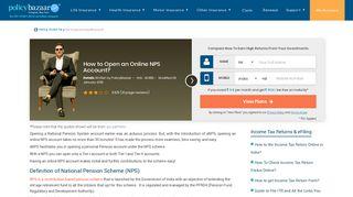 How to Open an Online NPS Account? - Policybazaar