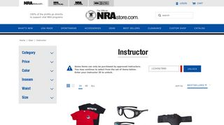 Instructor | Gear Official Store of the National Rifle ... - NRA Store