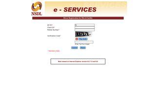 Direct Registration of IDeAS facility - NSDL e-SERVICES