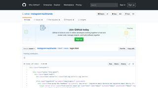 instagram-hackhands/login.html at master · sahat/instagram ... - GitHub