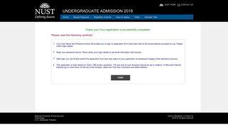 Undergraduate Admission 2019 - NUST Entry Test