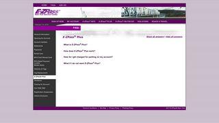 E-ZPass® New York - E-ZPass® Plus FAQ