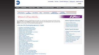 Where E-ZPass works - MTA