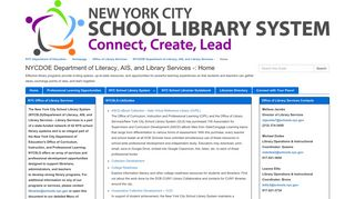 Home - NYCDOE Department of Literacy, AIS, and Library Services ...