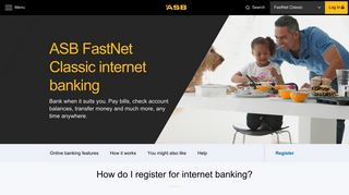 Internet banking - Online banking with FastNet Classic   ASB