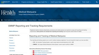 Oregon Health Authority : OMMP Reporting and Tracking ... - Oregon.gov